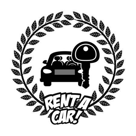 renting: Transportation  digital design, vector illustration