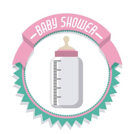 newborn baby: Baby Shower digital design, vector illustration Illustration