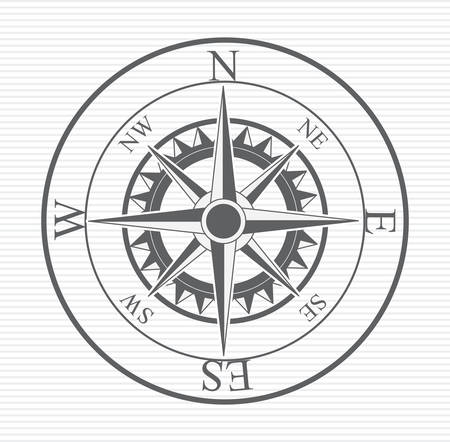 old compass: Compass digital design, vector illustration