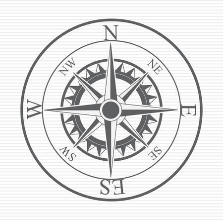 nautical equipment: Compass digital design, vector illustration
