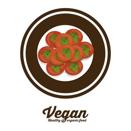 seal stamp: Vegan food digital design over seal stamp Illustration