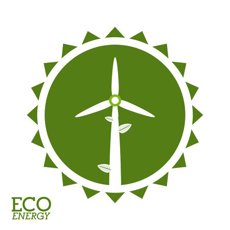 windmill: Eco windmill digital design, vector illustration eps 10