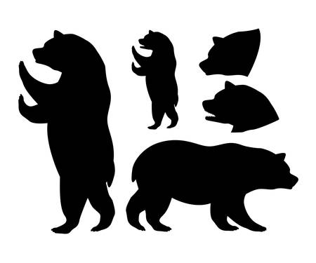 grizzly: Gardez la conception numérique, illustration vectorielle eps 10