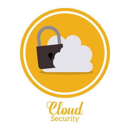 seal stamp: Cloud Computing over seal stamp digital, vector illustration eps 10