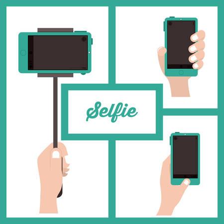 photo people: Selfie digital design, vector illustration eps 10 Illustration