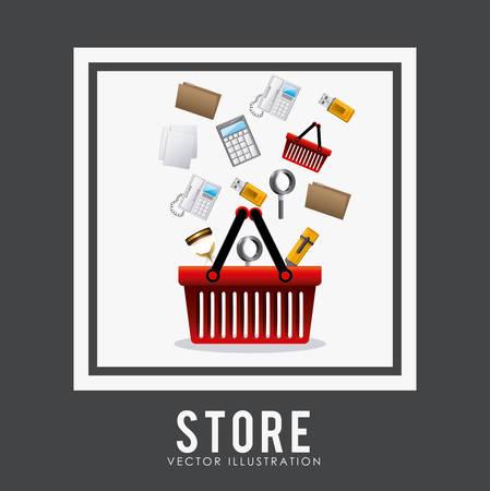 Store digital design, vector illustration eps 10