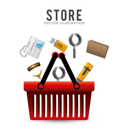 usb various: Store digital design, vector illustration eps 10