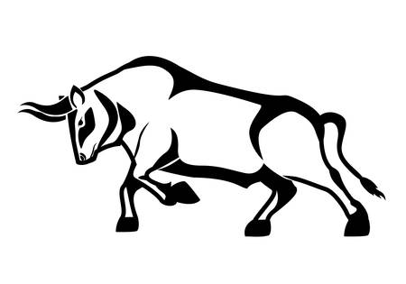 Bull design in black and white , vector illustration eps 10
