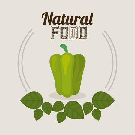 alimentacion natural: Alimento natural con dise�o de la hoja decorada, ilustraci�n vectorial eps 10