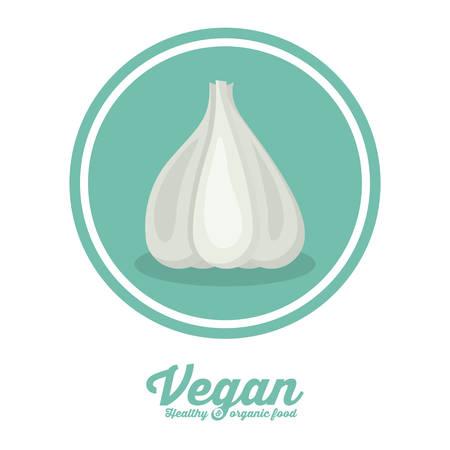 seal stamp: Vegan food digital design over seal stamp, vector illustration eps 10 Illustration
