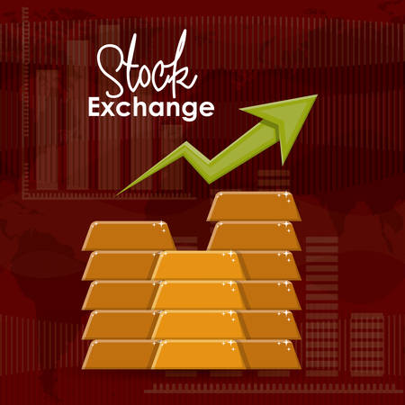 economic growth: Stock Exchange digital design, vector illustration eps 10