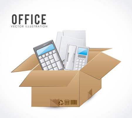 Office stuff digital design, vector illustration eps 10