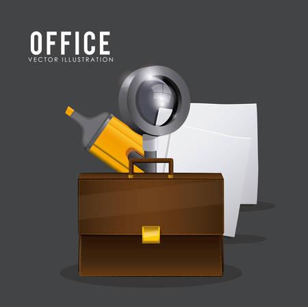 folder icon: Office stuff digital design, vector illustration eps 10