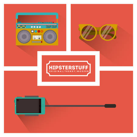 stuff: Hipster stuff digital design, vector illustration eps 10 Illustration