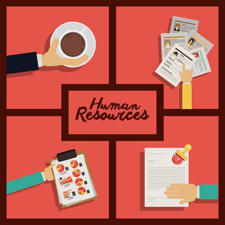 human resource: Human resources design, vector illustration eps 10