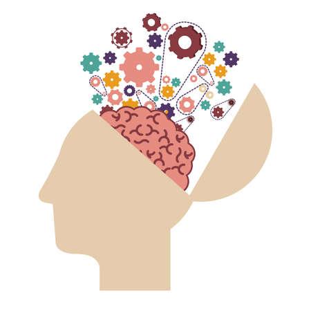 creative brain: Big idea digital design, vector illustration eps 10