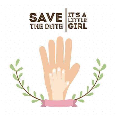 sweet background: baby shower design over white background, vector illustration Stock Photo