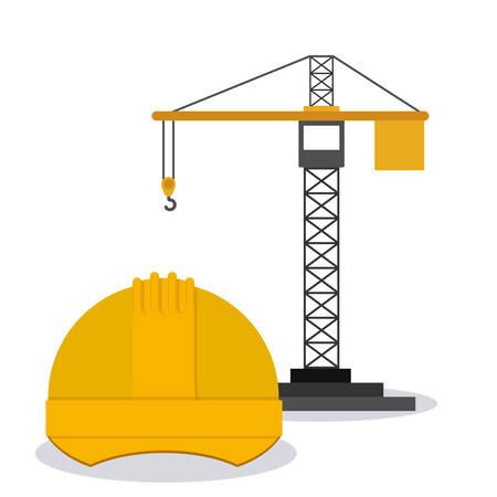 bouwkraan: Bouwkraan ontwerp, vector illustratie