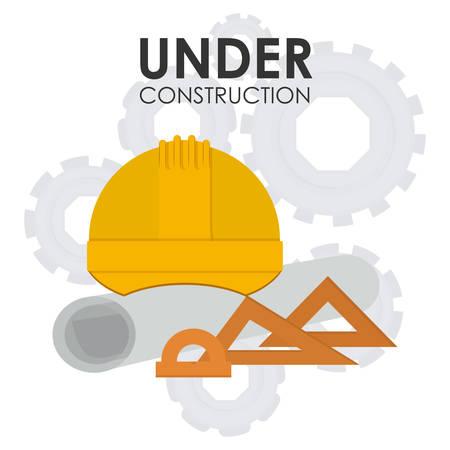 construction helmet: construction helmet design, vector illustration