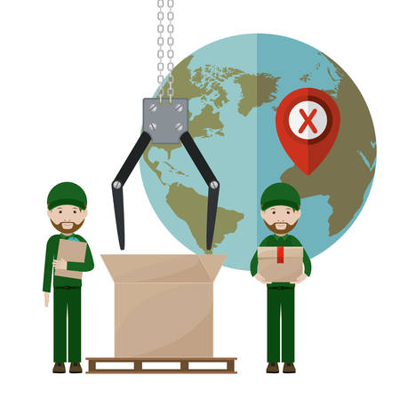 deliver: Deliver man design, vector illustration