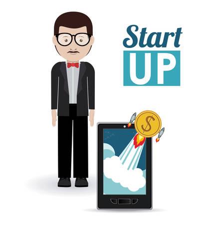 entrepreneur: Start up concept: Entrepreneur icon design