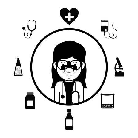 mentors: Profession concept, health design Illustration