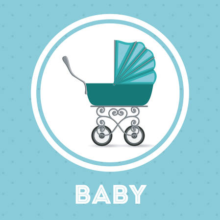 welcome baby: Baby shower concept, welcome to the birth icons design