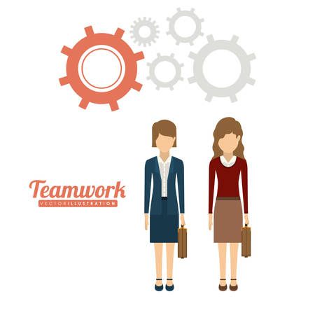 businesspeople: Teamwork and businesspeople concept design
