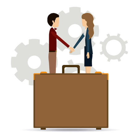 businesspeople: Teamwork and businesspeople concept design Illustration