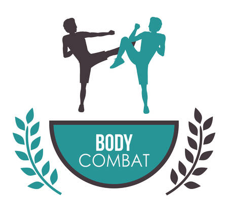 perfect fit: Bodycombat concept with avatar design Illustration