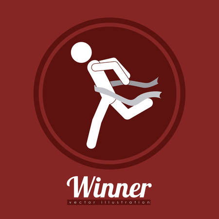 triumph: Winner concept with icons about triumph design