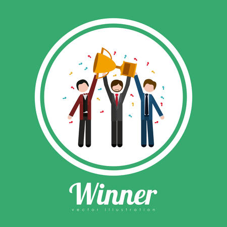 winner: Winner concept with icons about triumph design