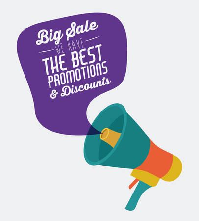 message: Promotions and discounts  message digital design