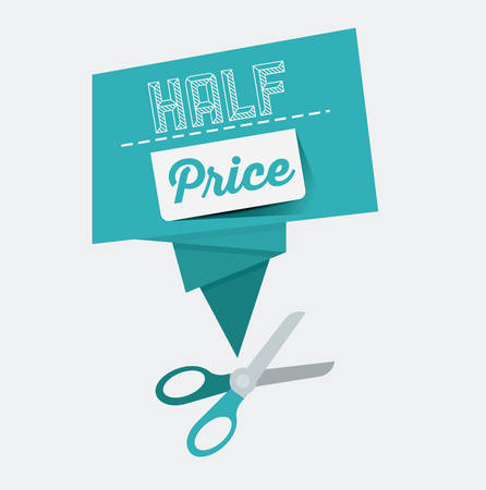 price label: Promotions and discounts  message digital design