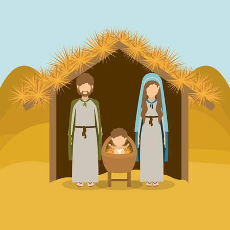 heilige familie: Frohe Weihnachten Konzept �ber heilige Familie Design