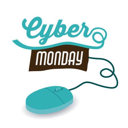 ecommerce icons: Cyber Monday concept with ecommerce icons design