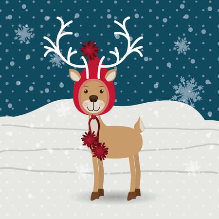 christmas concept: Merry Christmas concept with reindeer design