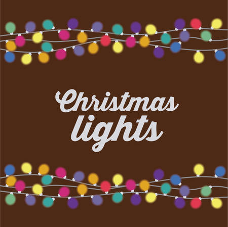 decoration lights: Merry Christmas concept with decoration lights design, vector illustration eps 10