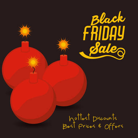 bomb price: Black Friday concept with sale icons design, vector illustration eps 10 Illustration
