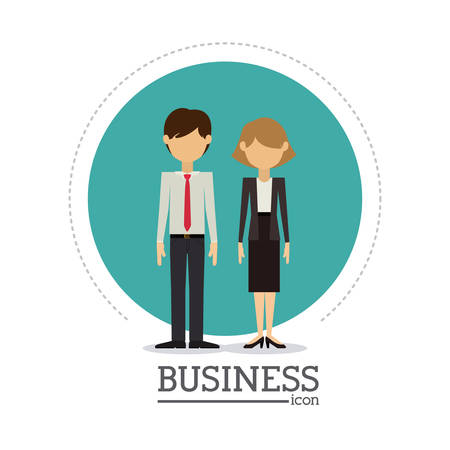 team business: Business concept and office icons design, vector illustration eps 10
