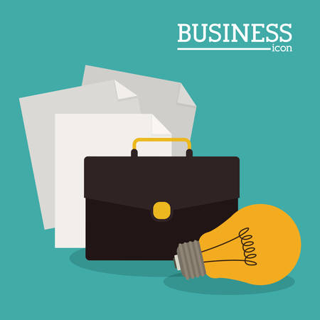 financial item: Business concept and office icons design, vector illustration eps 10