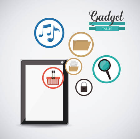 gadgets: Technology concept with Gadgets design, vector illustration eps 10