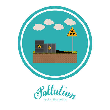generated: Pollution concept with environment icons design, vector illustration eps 10