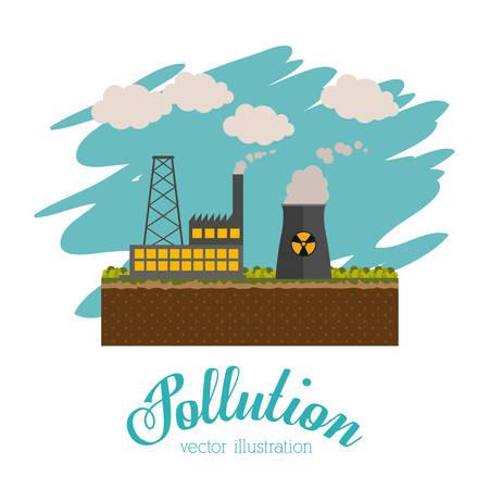 medio ambiente: Concepto de la contaminación con el diseño de los iconos del ambiente, ilustración vectorial eps 10 Vectores