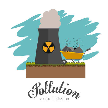 hazardous waste: Pollution concept with environment icons design, vector illustration eps 10