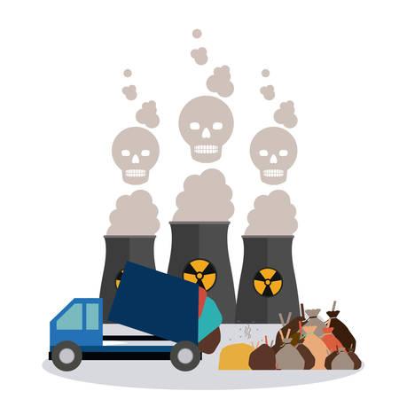 medio ambiente: Concepto de la contaminaci�n con el dise�o de los iconos del ambiente, ilustraci�n vectorial eps 10 Vectores