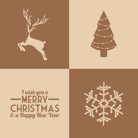 christmas concept: Merry Christmas concept with decoration icons design, vector illustration eps 10 Illustration