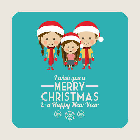 xmas card: Merry Christmas concept with decoration icons design, vector illustration eps 10 Illustration