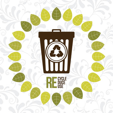 environment protection: Eco concept with garbage icons design, vector illustration eps 10 Illustration