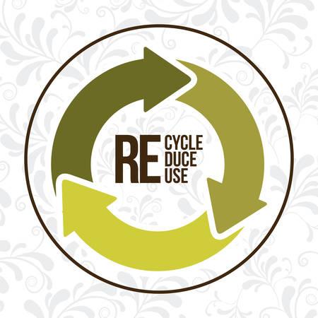 sustentabilidad: Concepto de Eco con el dise�o de iconos de reciclaje, ilustraci�n vectorial eps 10 Vectores